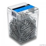Spinacz metal 26 mm (500)6351 E&D PLASTIC plastikowe pudełko