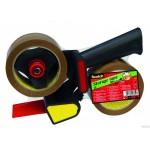 309 BUFF Zestaw 2 rolek taśmy pakowej Scotch brazowej (akrylowej) + podajnik HE180