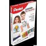 Zestaw pasteli do tkanin z długopisem żelowym PENTEL PTS15+BN15