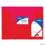Teczka z gumką PP A4 różowa SF028 STRIGO
