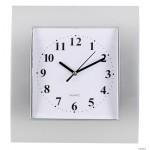Zegar ścienny plastikowy, 255 mm x 285 mm E01.2499 MPM Srebrny