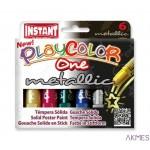 Farby w sztyfcie PLAYCOLOR metallic 6kol 10321 0445-0006-99