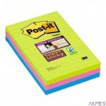 Bloczki 3M POST-IT 660-3S 102x152mm 6x90k linia Super Sticky 70005253409