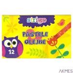 Pastele olejne 12 kolorów STRIGO SSC027