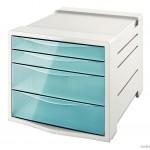 """Pojemnik z szufladami ESSELTE COLOUR""""ICE niebieski 626284"""