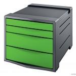 Pojemnik z 4 szufladami EUROPOST VIVIDA zielony ESSELTE 626499