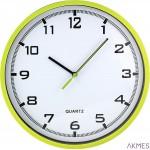 Zegar ścienny plastikowy, 255 mm E01.2478 MPM Zielony