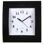 Zegar ścienny plastikowy, 255 mm x 285 mm E01.2499 MPM Czarny