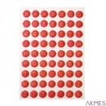 Litery samoprzylepne 63el.3D różowe INCOOD 0037-0087