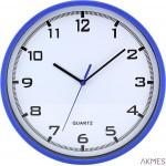 Zegar ścienny plastikowy, 255 mm E01.2478 MPM Niebieski