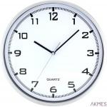 Zegar ścienny plastikowy, 255 mm E01.2478 MPM Srebrny