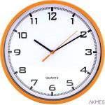 Zegar ścienny plastikowy, 255 mm E01.2478 MPM Pomarańczowy
