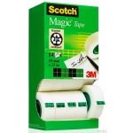 Zestaw 12 sztuk Taśmy Scotch® Magic™ 19mm x33m, w kartonowym podajniku + 2 rolki GRATIS 8-1933R14 TPR 3M