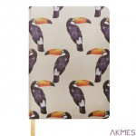 Notes A5 80 kartek tekstylna oprawa tukan INCOOD 0106-0091