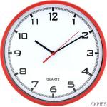 Zegar ścienny plastikowy, 255 mm E01.2478 MPM Czerwony