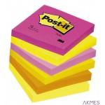 Bloczek samoprzylepny POST-IT_ (654N), 76x76mm, 1x100 kart., jaskrawy różowy