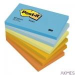 Bloczek samoprzylepny POST-IT_ (655-TFEN), 127x76mm, 6x100 kart., paleta energetyczna