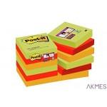 Bloczek samoprzylepny POST-IT_ Super Sticky (622-12SSMAR-EU), 47,6x47,6mm, 12x90 kart., paleta Marrakesz
