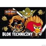 Blok techniczny z kolorowymi kartkami A4, 10k ANGRY BIRDS & STAR WARS II
