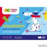 Blok rys.HAPPY COLOR kolor A4 15ark. HA 3708 2030-09