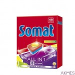 SOMAT Tabletki do zmywarki 48 szt.All in One Lemon 47890
