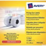 Etykiety cenowe do metkownic PLP1226 12x26 rolka do metkownicy jednorzędowej Avery Zweckform, trwałe, białe
