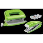 Zszywacz i dziurkacz mini WOW j.zielony 55612064 LEITZ