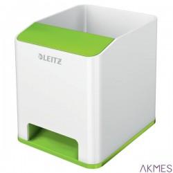 Kubek na długopisy Leitz WOW ze wzmacniaczem dźwięku, zielony 53631054