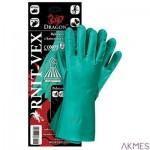 Rękawice RNIT-VEX rozmiar 7 zielone wykonane z kauczuku nitrylowego
