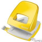 Dziurkacz duży metalowy Leitz, żółty, 10 lat gwarancji, 30 kartek 50081016