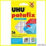 Masa samoprzylepna bezbarwna 56 porcji UHU PATAFIX INVISIBLE U37155