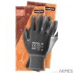 Rękawice powlekane stalowo-szare Rozmiar 10 RNYPO