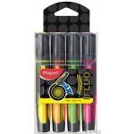 Zakreślacz FLUO PEPS max mix kolorów 4szt etui pud. z zaw. MAPED 742947