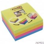 Multi kostka samoprzylepna POST-IT_ Super Sticky (2014-SC-BYFG),76x76mm, 4x75 kart., mix kolorów