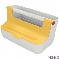 Pojemnik z uchwytem Leitz Cosy, żółty 61250019