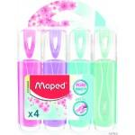 Zakre. FLUO PEPS pastel mix kolorów 4 szt etui pud. z zaw. 742546 MAPED