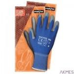 Rękawice powlekane niebiesko-szare Rozmiar 9 RNYPO