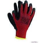 Rękawice powlekane czerwono-czarne rozmiar 8 RTELA