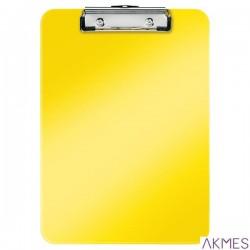 Deska z klipem Leitz WOW, żółta 39710016