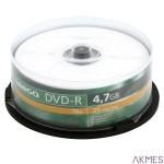 Płyta OMEGA DVD-R 4,7GB 16X SLIM CAKE (10) OMD16S-