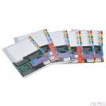 Przekładki indeksowe REXEL A4 1-12 kolorowe kartonowe Mylar