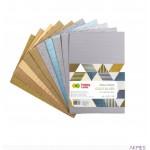 Tektura falista MIX GOLD/SILVER, A4, 10 ark, metallic, brokat, HAPPY COLOR HA 7721 2030-GS