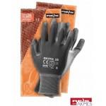 Rękawice powlekane stalowo-szare Rozmiar 8 RNYPO
