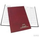 Książka korespondencyjna A-4 96 kartek - bordo Warta
