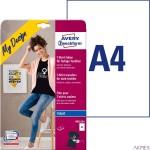 Wprasowanki na kolorowe tkaniny MD1004 A4 8 ark. 8 ark. folii transferowej + 8 ark. papieru silikonowego, Avery Zweckform