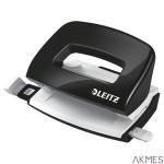 Dziurkacz Mini metalowy Leitz WOW, czarny, 10 lat gwarancji, 10 kartek 50601095