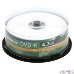 Płyta OMEGA DVD+R 4,7GB 16X CAKE (25) OMD1625+