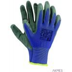 Rękawice powlekane niebiesko-szary rozmiar 8 RTELA