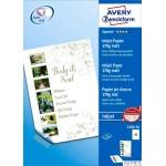 Papier matowy 2589-50 170g 297 x 420 50 ark dwustronnie powlekany, biały, Avery Zweckform