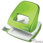 Dziurkacz duży metalowy Leitz, zielony, 10 lat gwarancji, 30 kartek 50081054